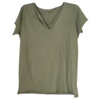 Zadig & Volatire Green Skull Embellished Top