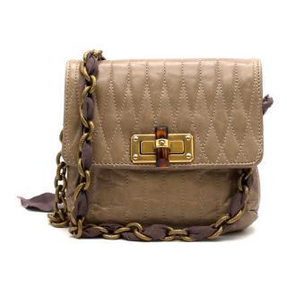 Lanvin Taupe Leather Happy Mini Pop Crossbody Bag
