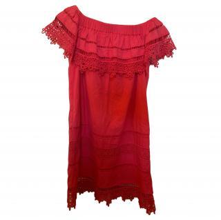 Sea New York Red Bardot Mini Dress