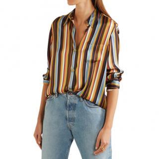 Acne Studios Buse striped satin shirt