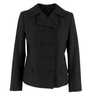 Maison Margiela Black Wool Double breasted Blazer