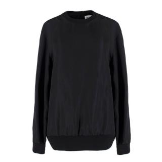 Self Portrait Black Double Layered Jumper