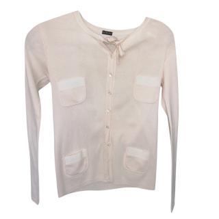 Joseph Pale Pink Knit Cardigan
