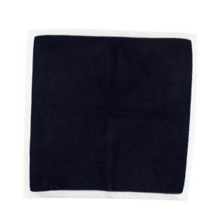 Richard James Bespoke Navy Knit Pocket Square