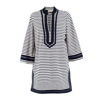 Tory Burch striped Cotton Blend Beach Cover Up