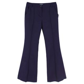 Christian Dior Indigo Wool Boot-cut Trousers