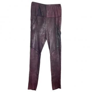 Isabel Marant bonded leather high waist leggings, NEW. Size 2 (�1395)