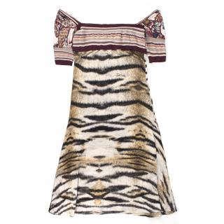 Just Cavalli Multi-Print Dress