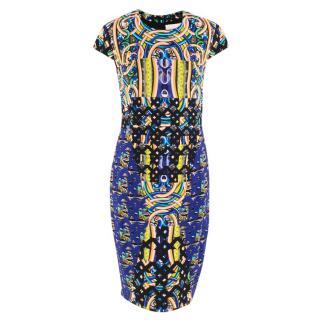 Peter Pilotto Blue Script Midi Dress