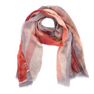 Vivienne Westwood Wool Distressed Union Jack Print Scarf