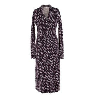 Diane Von Furstenberg Silk Circle Print Wrap Dress