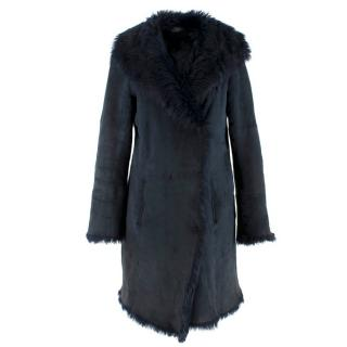 Joseph Navy Toscana Sheepskin Coat