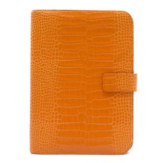 Smythson Croc Finish Orange iPad Case