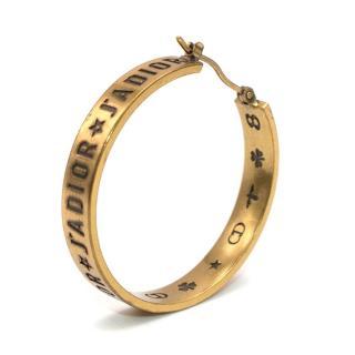 Dior Gold Tone J'adior Single Hoop Earring