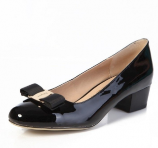 Salvatore Ferragamo Vara Bow Patent Pumps