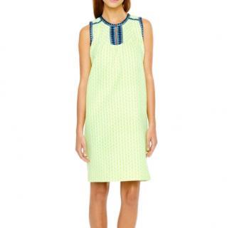 J.Crew Yellow Tall Arrow Print Shift Dress