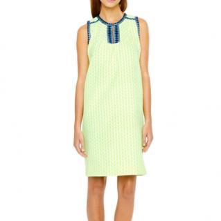 J.Crew Yellow Tall Arrow Print Shift Dress