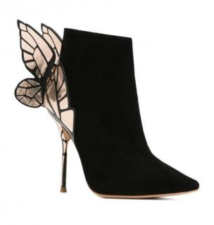 Sophia Webster Black Suede Chiara Butterfly Ankle Boots