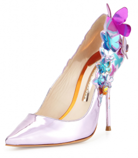 Sophia Webster Harmony Metallic 3D Butterfly Pump