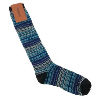 Missoni Blue Knit Socks