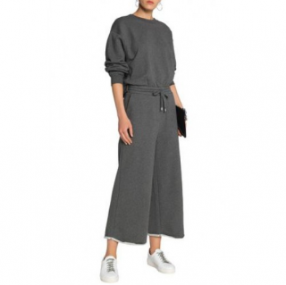 T by Alexander Wang Melange French cotton-terry jumpsuit