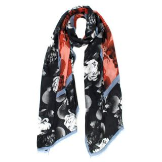 Jonathan Saunders Cashmere Floral Print Shawl