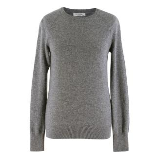 Equipment Grey Cashmere Crew Neck Knit Sweater