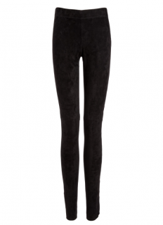 Joseph Charcoal Leather Suede Leggings