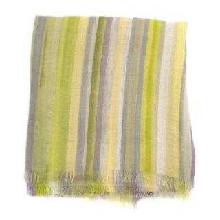 Bespoke Striped Cashmere Blend Shawl
