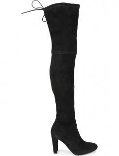 Stuart Weitzman Black Highland OTK Boots