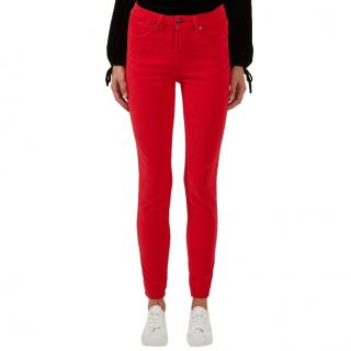 Donna Ida Red Rizzo High Waisted Skinny Jeans