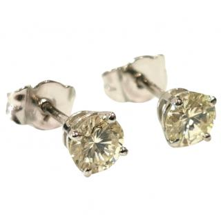 DOM 1.30ct Solitaire Earrings