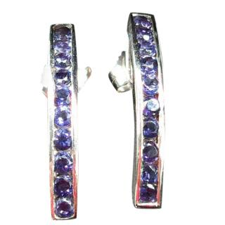 Bespoke Tanzanite bar earrings