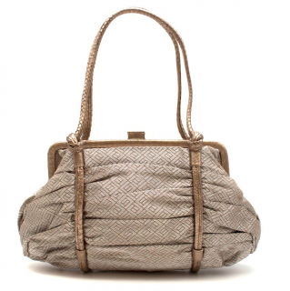 Bottega Veneta Vintage Metallic Top Handle Bag