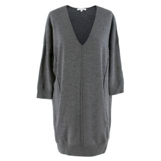 Faith Connexion Merino Wool Grey Jumper Dress