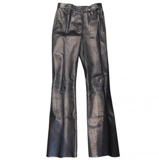 Jitrois Pinstripe Leather Pants