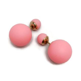 Christian Dior Matte Pink And Gold Tribales Earrings