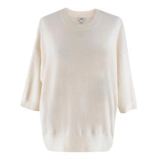 Vince Cream 3/4 Sleeve Cashmere Jumper