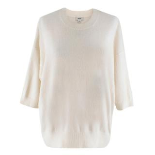 Vince Cream 3/4 Sleeve Cashmere Jumper