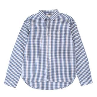 Marie Chantal Boy's Blue Checkered Button-up Top