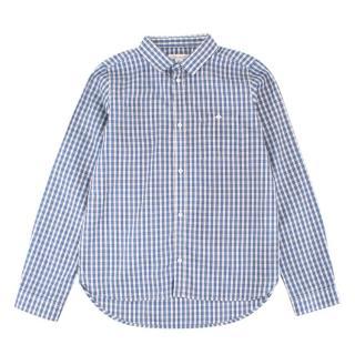 Marie Chantal Boy's Blue Checkered Button-up Top