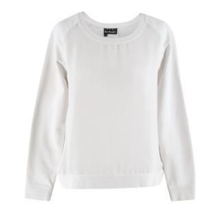 The Kooples Sport White Mesh Sweater