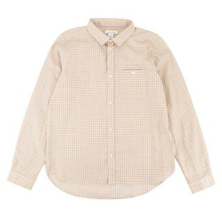 Marie Chantal Boy's Orange Checkered Button-up Top