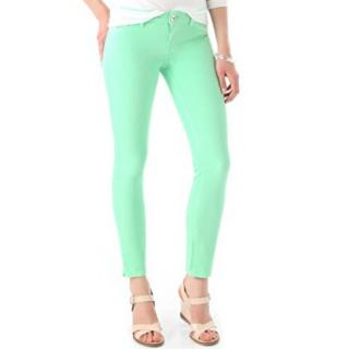 DL1961 Angel mid-rise skinny key lime stretch jeans