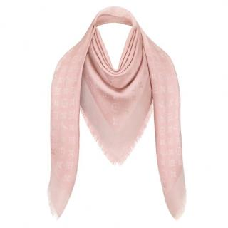 Louis Vuitton Rose Beige Monogram Shine Shawl