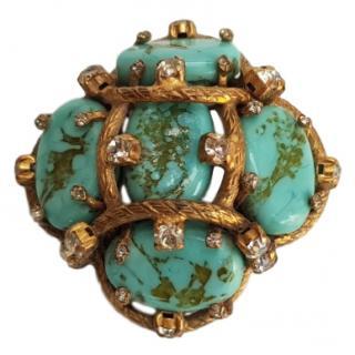 Chanel Vintage Precious Stone & Crystal Brooch