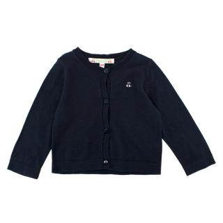 Bonpoint Girl's 6m Navy Cardigan