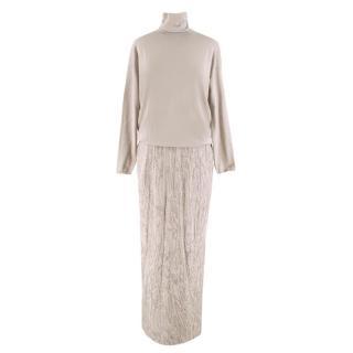 Brunello Cucinelli Cashmere & Sequin Gown