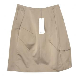 Marni Mocha Satin Skirt