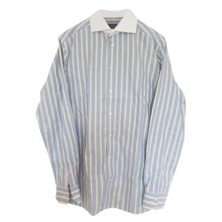 Eton Men's Blue Striped Shirt